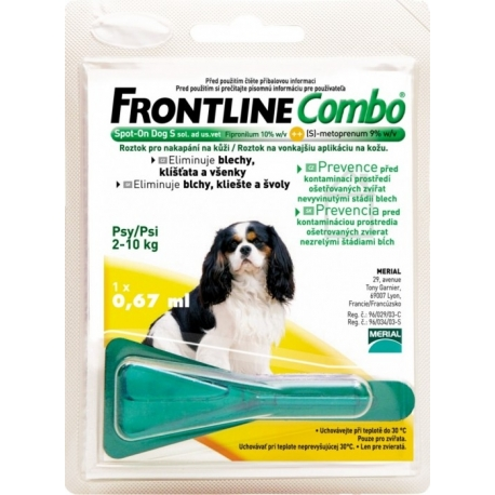 frontline proti blechám-Frontline Combo Spot-On Dog S 2-10 kg