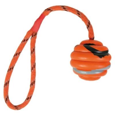 Trixie Vrhací míček na šňůře 6cm*30cm