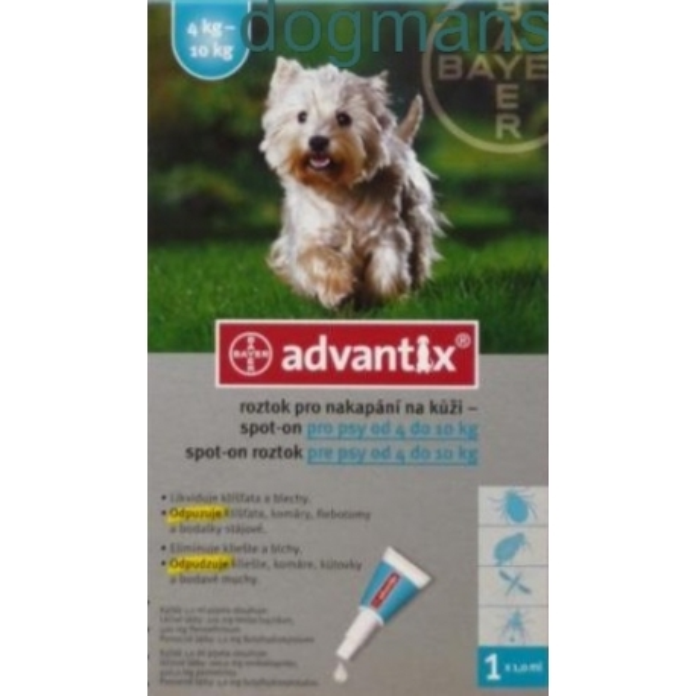Advantix spot-on pro psy 4-10kg