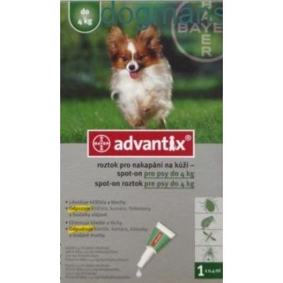 Advantix Spot On pro psy do 4kg-1x0,4ml