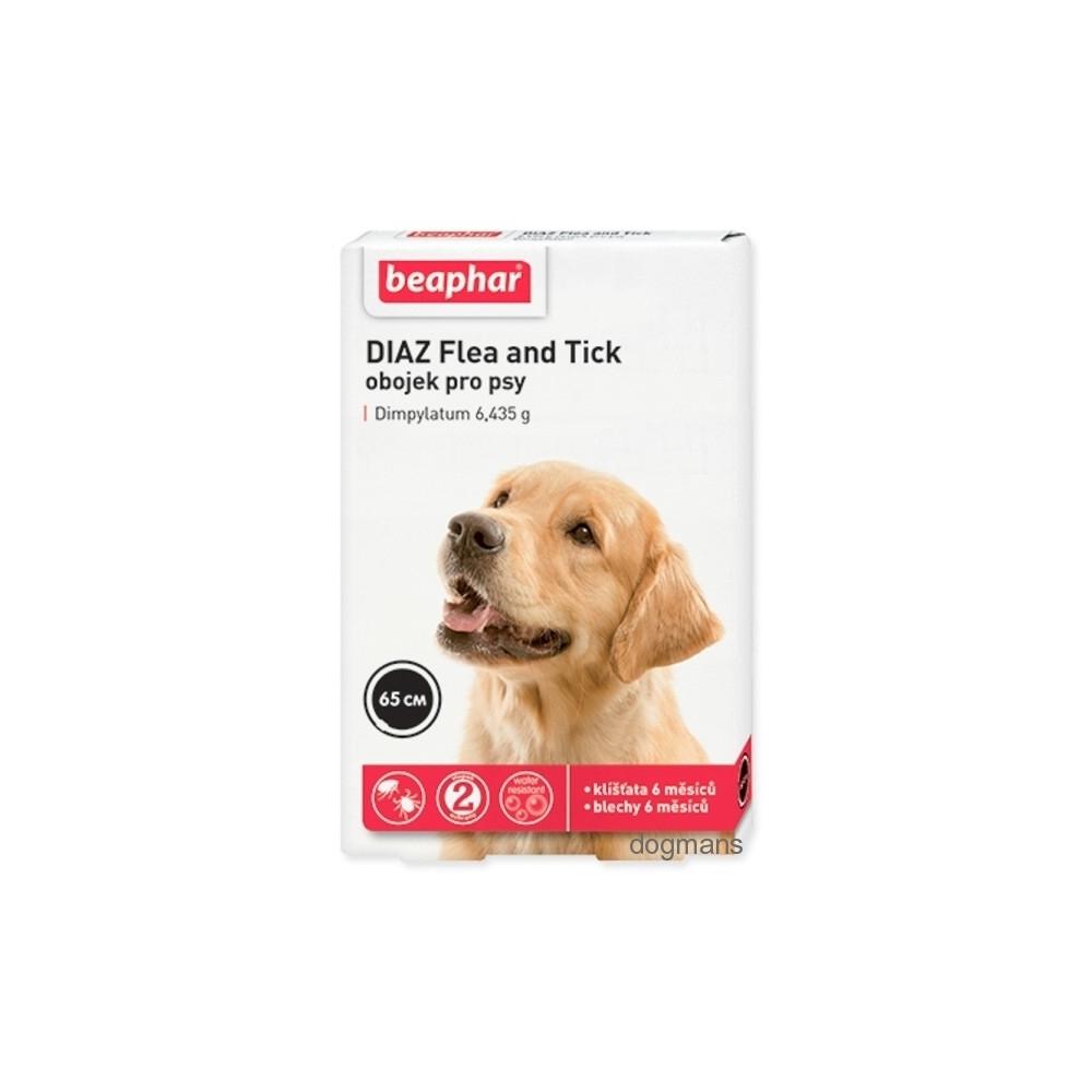 Beaphar Obojek antiparazitní pes Diaz Flea&Tick 65cm