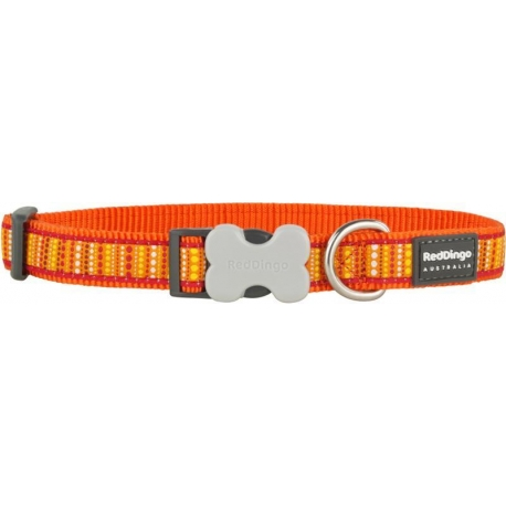 Obojek Red Dingo Obojek RD 20 mm x 30-47 cm - Lotzadotz Orange
