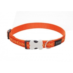 Obojek Red Dingo 20 mm x 30-47 cm - Cosmos Orange
