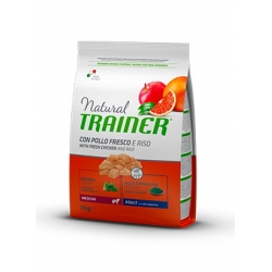 Trainer Natural Medium Adult Chicken Rýže 12kg