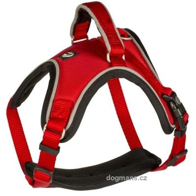 Duvo+ Postroj West nylon červený 1,5x30-40cm