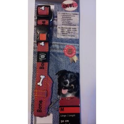 Karlie obojek Jeans se šátkem Červený-Akce
