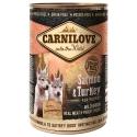 Carnilove Wild konzerva Meat Salmon & Turkey Puppies 400g