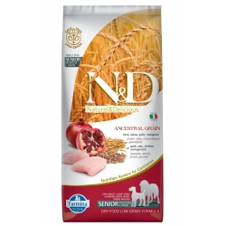 N&D LG DOG Senior S/M Chicken & Pomegr
