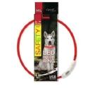 Obojek DOG FANTASY světelný USB červený