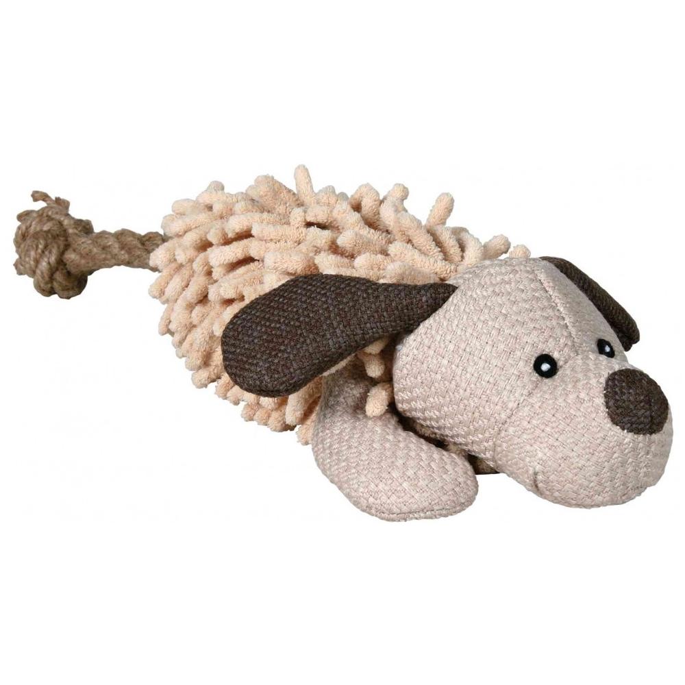 Trixie plyšový pes s ocasem z lana