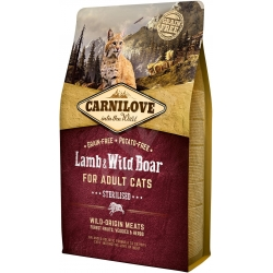 Carnilove Cat Lamb & wild boar Adult Sterilized 2kg