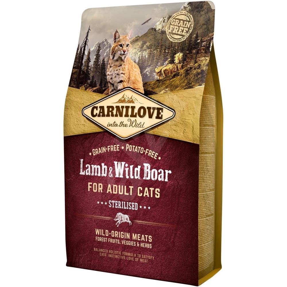 Carnilove Cat Lamb & wild boar Adult Sterilized 2kg