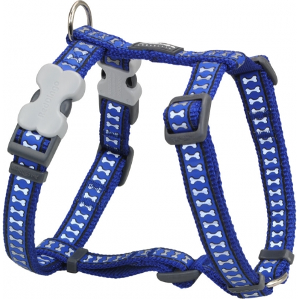 Postroj Red Dingo Bones Rfx- Tm.Modrá