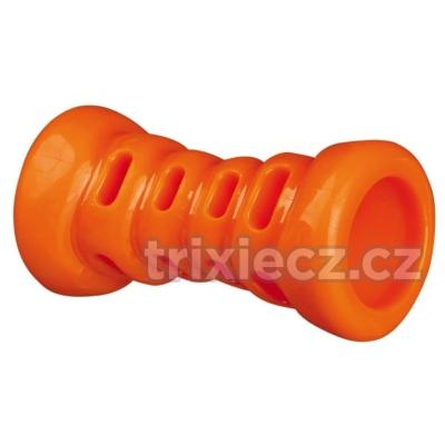 Trixie Soft Strong kost TPR termoplastová guma 9 cm oranžová