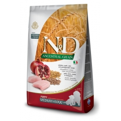N&D LG DOG Puppy M/L Chicken & Pomegranate