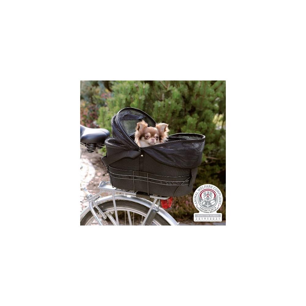 Trixie Přepravka na zadní nosič kola pro psa,kryt síťovina 48x29x42