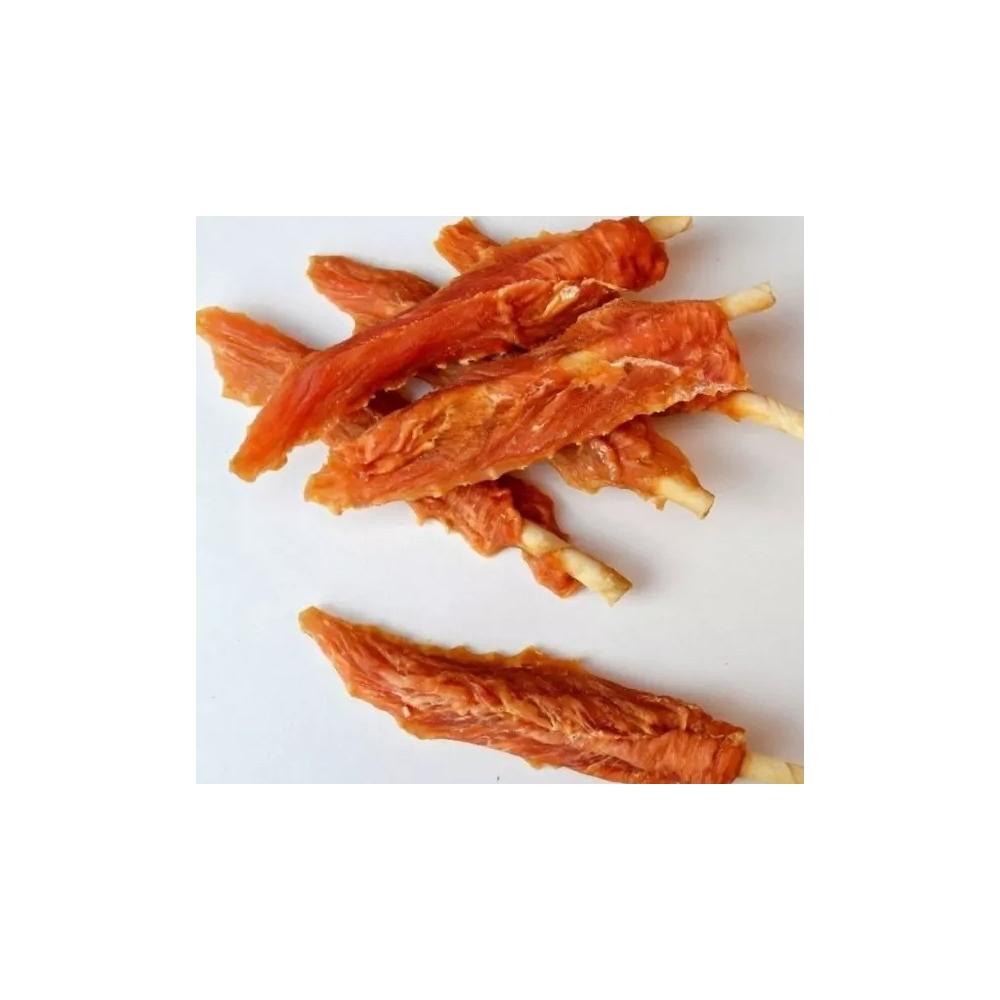 Pochoutka Kuřecí filety na tyčce z buvolí kůže 500g