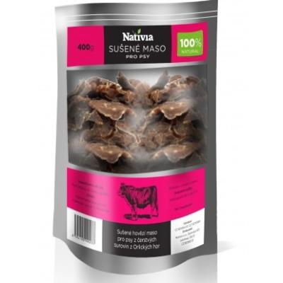 Nativia Sušené hovězí maso pochoutka pro psy 400g