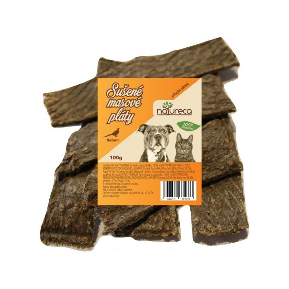 NATURECA pochoutka Masové pláty Bažant, 100%maso 100g